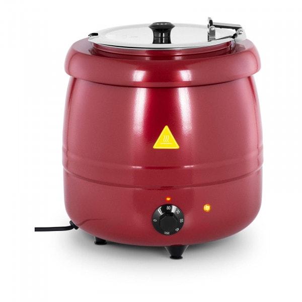 Elektrisk soppkittel - 10 L - Stål - Röd beläggning